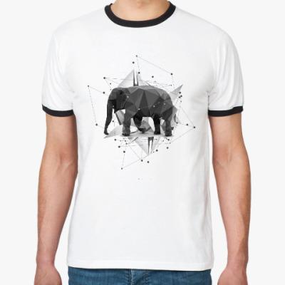 Футболка Ringer-T Геометрический Слон