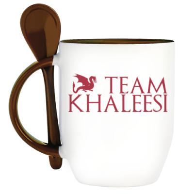 Кружка с ложкой Команда Кхалиси