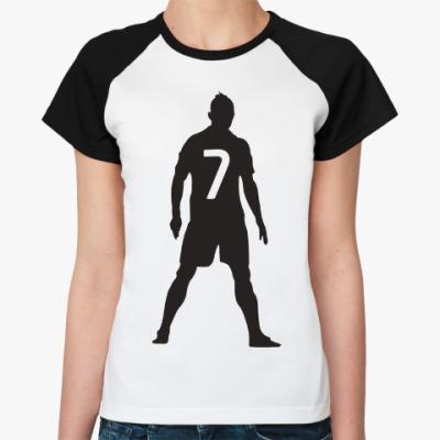 Женская футболка реглан Ronaldo 7