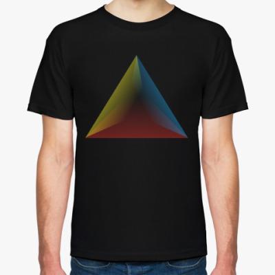 Футболка Градиент в треугольнике