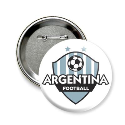 Значок 58мм Футбол Аргентины