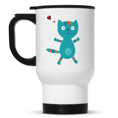 Кружка-термос Кот с сердцем