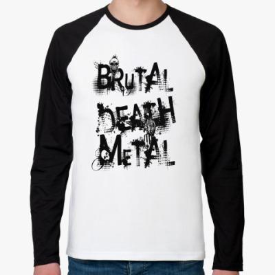 Футболка реглан с длинным рукавом Brutal Death Metal
