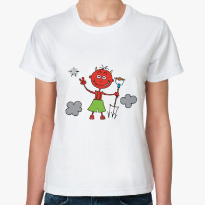 Классическая футболка Бесёнок
