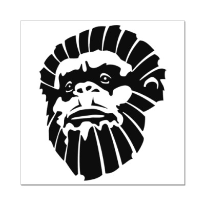Наклейка (стикер) Лицо обезьяны