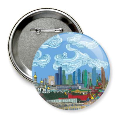 Значок 75мм City Skyline