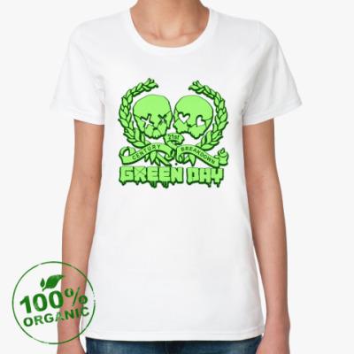 Женская футболка из органик-хлопка Green Day