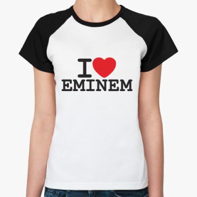 Женская футболка реглан Эминем