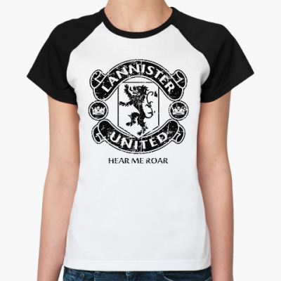 Женская футболка реглан Игра престолов.Ланнистеры
