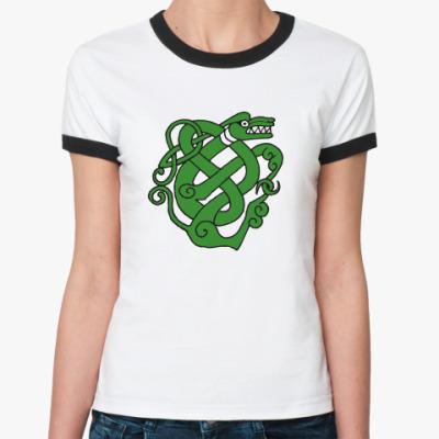 Женская футболка Ringer-T  'Snake'