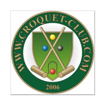 Наклейка (стикер) Croquet-Club