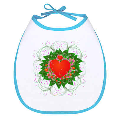 Слюнявчик Heart Flower