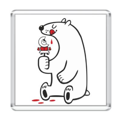 Магнит  Белый мишка