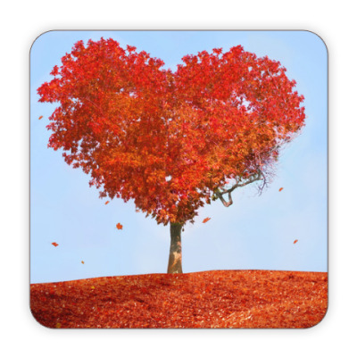 Костер (подставка под кружку) Осень