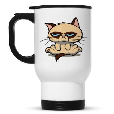 Кружка-термос Недовольный кот ( Grumpy cat )
