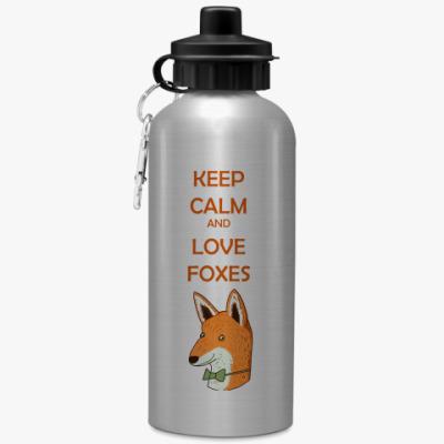 Спортивная бутылка/фляжка Любовь к лисичкам