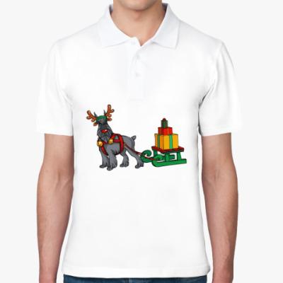 Рубашка поло Новогодний Шнауцер