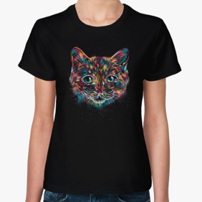Женская футболка Абстрактный Кот
