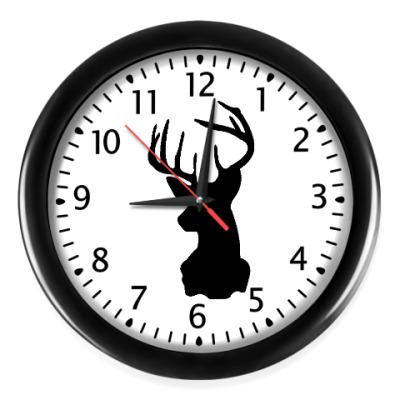 Настенные часы Силуэт оленя