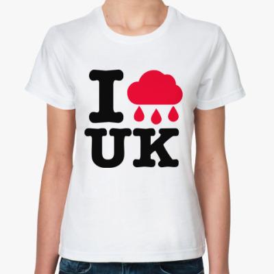 Классическая футболка  Англия
