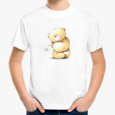 Детская футболка Скромный Мишка