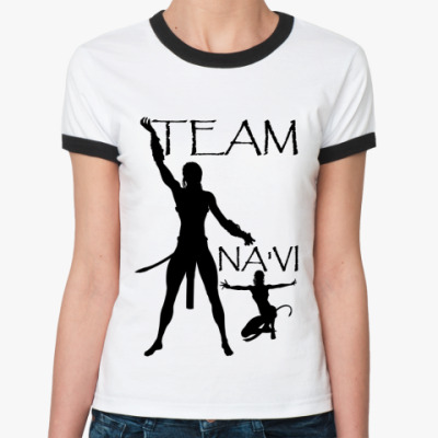 Женская футболка Ringer-T Team Na'vi