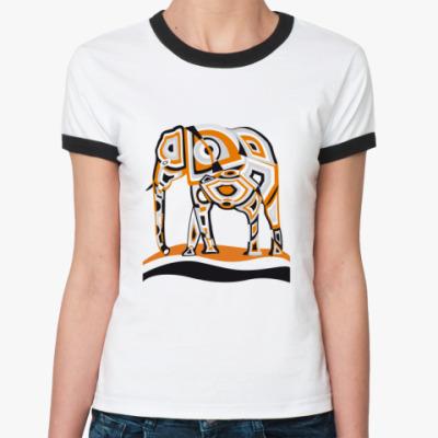 Женская футболка Ringer-T африка