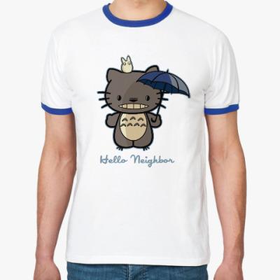 Футболка Ringer-T Hello Totoro