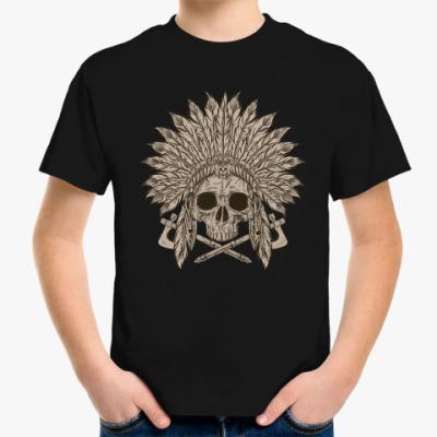 Детская футболка Череп индейца