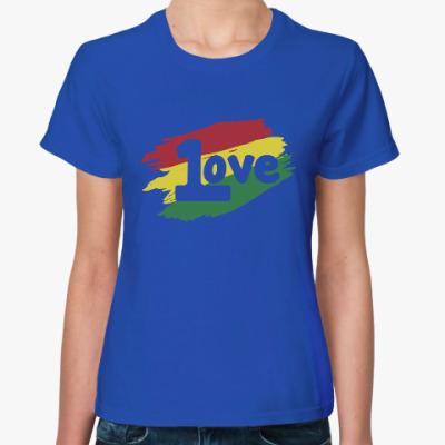 Женская футболка 1 Love