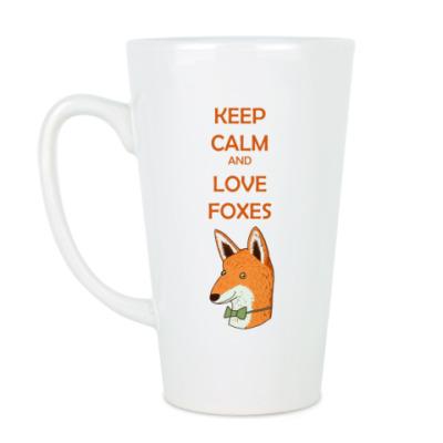 Чашка Латте Любовь к лисичкам