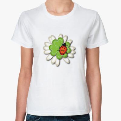 Классическая футболка Божья коровка