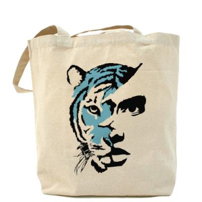 Сумка Тигр голубой
