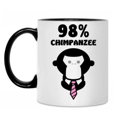 Кружка 98% шимпанзе