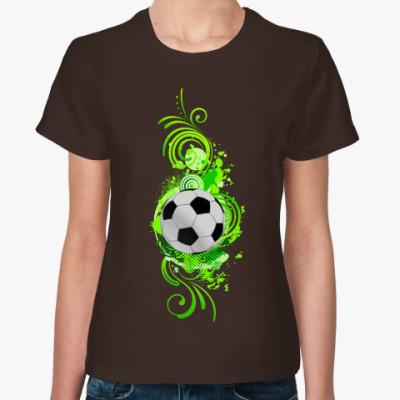 Женская футболка Футбольный мяч