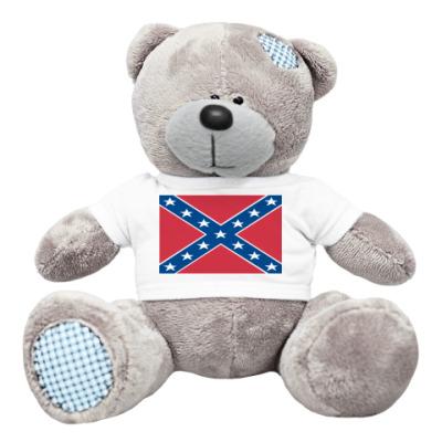 Плюшевый мишка Тедди флаг конфедерации