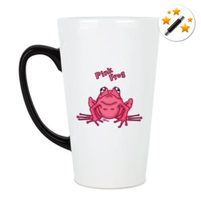Кружка-хамелеон Pink Frog