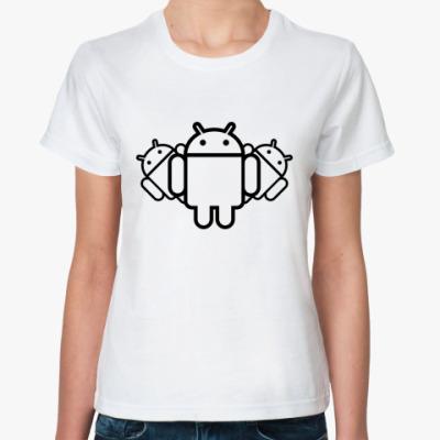Классическая футболка  Androids
