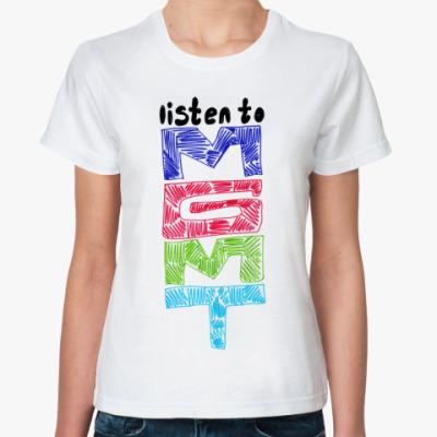 Классическая футболка  футболка mgmt