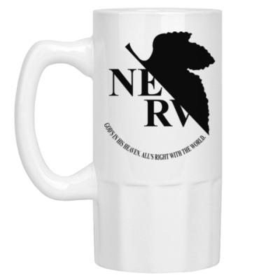 Пивная кружка Neon Genesis Evangelion NERV