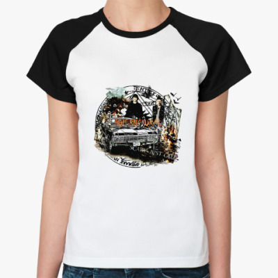 Женская футболка реглан Supernatural