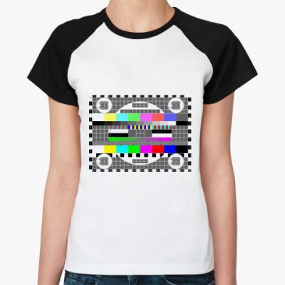 Женская футболка реглан Пауза