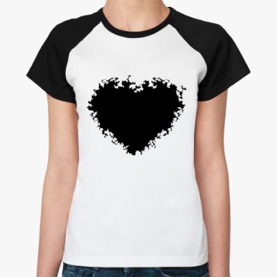 Женская футболка реглан black heart