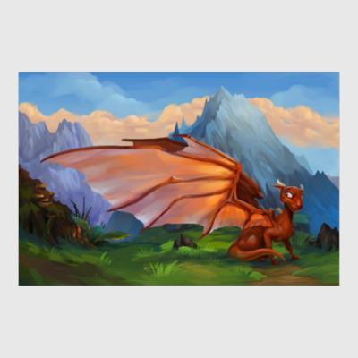 Постер Little dragon