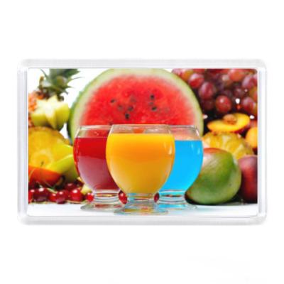 Магнит Коктейль с фруктами