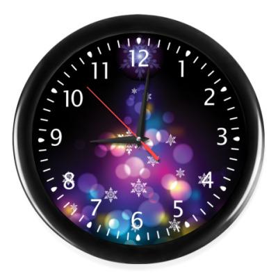 Часы Новогодняя елка