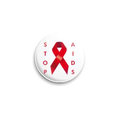 Значок 25мм Stop AIDS