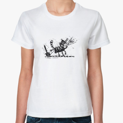 Классическая футболка Кошачий мяв
