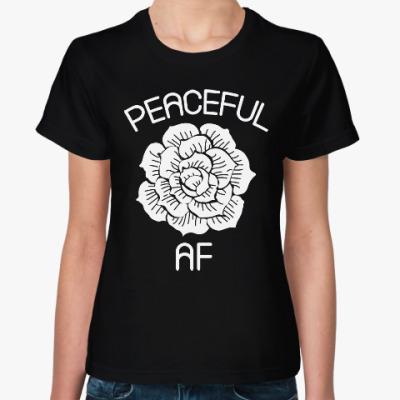 Женская футболка Цветок