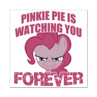 Наклейка (стикер) Пинки Пай наблюдает за тобой